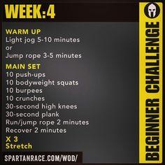 Spartan Training: Beginner Challenge (Week 4)