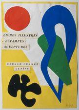 Henri Matisse Maquette de la couverture Catalogue H. Matisse, Livres illustrés, estampes, sculptures, éd. Gérald Cramer, Genève,
