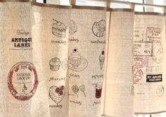 生活印迹 复古怀旧 zakka 韩国棉麻 半帘/咖啡帘 / ¥42.80