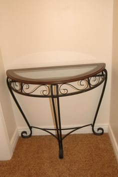 Captivating Half Table For Sale | Gently Used, But Good Condition, Some Scratches. Glass