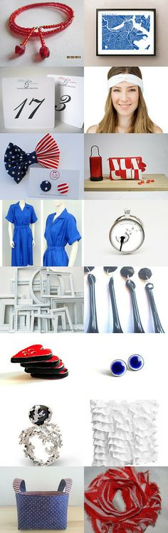 White Red Blue by Odilia Ferreira on Etsy--Pinned with TreasuryPin.com
