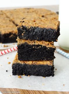 Fudgy Brownies with Crunchy Butterfinger Crust