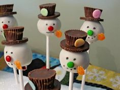 "I loved making these cakepops, although they took FOREVER!  The ""thanks"" goes to Bakerella!  She is amazing!  :)"