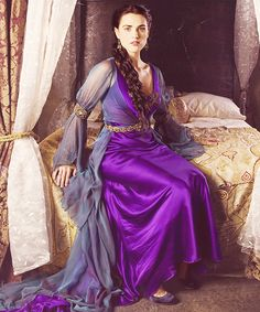 Katie McGrath as the Lady Morgana Pendragon from BBC's hit TV series The Adventures of Merlin.