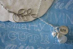 Bridesmaid Necklace Personalized Branch by LaurieBWeddings on Etsy