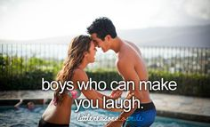 Boys that make you laugh