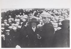 Two enlisted men and a Yeoman (F) at Naval Training Station Newport