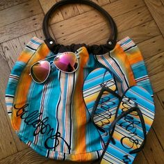 "Billabong Bag, Flip Flops & FREE Sunnies SUMMER ESSENTIALS... Brand New w/out tags Billabong Beach Bag & Flip Flops, bag is 16"" W x 12"" H... Flip Flops fits anyone size 6 to 7.5..... Sunglasses are FREE WITH PURCHASE, VALUED AT $23... FEEL FREE TO ASK ANY QUESTIONS...  🚫NO PayPal 🚫NO Trades 🚫NO Low-Balling...    🐶🐱 & 🚭 free House....   ALL Offers are Welcome via Offer Feature... ✅ Billabong Bags"