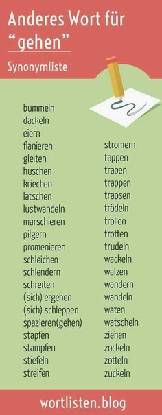 Synonyms are cool – do more with your language – Walking is the usual form of walking. But people walk in different ways. A good text expresses this – Writing Advice, Writing A Book, Writing Prompts, German Grammar, German Words, The Words, German Language Learning, English Language, Learn German