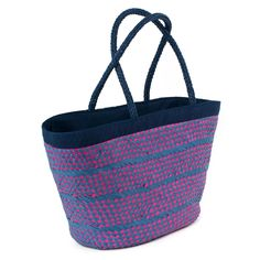 Summer bag with navy rope and lovely colours. #bag #summer Szaleo.pl | Be new fashioned & accessorized!