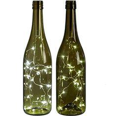 15 LED Bright White Bottle Light Kit Fairy Lights Battery Top