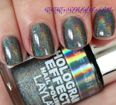 Scrangie: Layla Hologram Effect Nail Polish - Flash Black - Swatches and Review