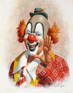 ARTHUR SARON SARNOFF....love happy, colorful clowns