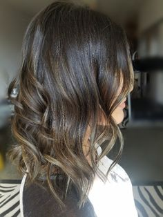 Dark Brown hair color with soft balayage on short haor Soft Balayage, Hair Blog, Brown Hair Colors, Hair Pictures, Dark Hair, Hair Inspiration, My Hair, Dark Brown, Long Hair Styles