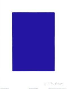 Untitled, Blue Monochrome, c.1961 (IKB73) Siebdruck von Yves Klein bei AllPosters.de