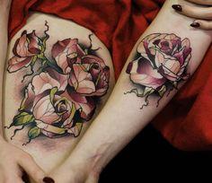 Flowers tattoo by Renan Batista