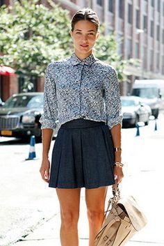 denim skirt. photo by Anthea Simms.