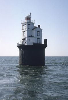 Fourteen Foot Bank Lighthouse on Delaware Bay. New Jersey.
