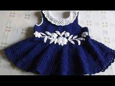 Vestido para Niña tejido a crochet parte 2 ganchillo