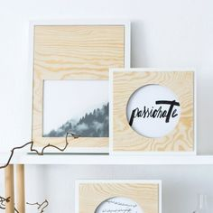 Display your favorite photos in easy-to-make photo frames with plywood.