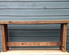 Reclaimed Rustic Wood Bench. Charming Rustic by TRUECONNECTION