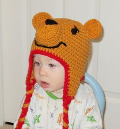 Hey, I found this really awesome Etsy listing at https://www.etsy.com/listing/154505128/winnie-the-pooh-hat-newborn-pooh-bear