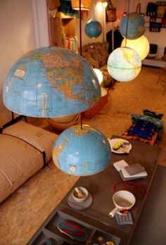 love those crazy globes #roomandboard #yolocolorhouse  #annies