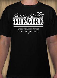 Theatre club design idea and template. Design for your club. Design Your Own, My Design, Club Design, Scrubs, Theatre, Shirt Designs, Graduation, Template, Student