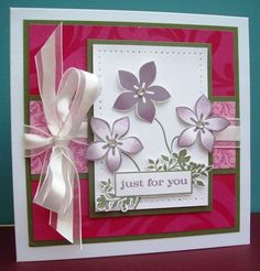 CC311 Rosy Cottage Plums... by Devlinwhite - Cards and Paper Crafts at Splitcoaststampers