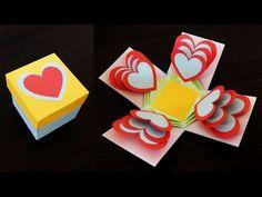 Kalpleri mühürlenmiş DİY kağıt el sanatları Hediye kutusu hediye sunmak - YouTube