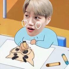 Exo Kai, Chanyeol, Exo Fanart, Exo Cartoon, Exo Memes, Kaisoo, Kim Jong In, Funny Art, Kpop Boy