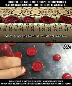 """in Qur'an our creator told us directly that he created """"arda firashan"""" which is a flat surface~"""