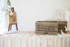 Wedding cards and gifts table - reception details