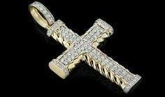 10K Gold 1.65CT Diamonds Cross Pendant - King Johnny - Johnny's Custom Jewelry