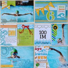 The pictures are similar, but look how awesome the embellishments & Project Life-style layout & cards make this so fun & creative! created by Suzanna Lee Project Life, Scrapbook Cards, Scrapbook Layouts, Scrapbooking Ideas, Life Page, Grid Layouts, Creating A Blog, Craft Projects, Craft Ideas