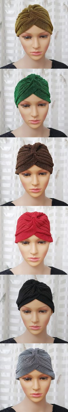 1x Men Women Trendy Stretchable Soft Indian Style Turban Hat Head Wrap Band Cap