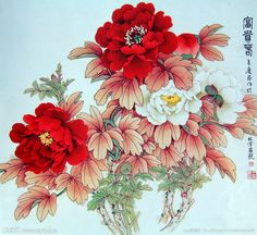 Are fashion, art & decor your interests? Asian Flowers, Oriental Flowers, Japanese Flowers, Japanese Drawings, Japanese Tattoo Art, Japanese Art, Chinese Painting, Chinese Art, Peony Flower