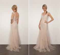 Simple mesh wedding gown<3 #brayola