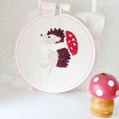 ハリネズミさん #ハンドメイド #pandafactory #embroidery #handmade #hedgehog #ハリネズミ