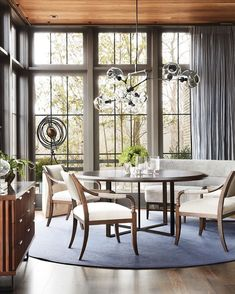 Reframe and refocus. as the holidays wane and my creative want becomes restless I am grateful for the invitation that Hickory Chair gave… Dining Room Windows, Ceiling Windows, Dining Rooms, Dining Area, Hickory Chair, Amazing Spaces, Formal Living Rooms, Dining Table Chairs, Booth Design