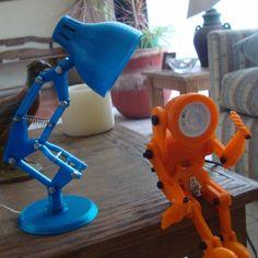 3D Printable Lámpara Pixar (Pixar Lamp)  by Manuel D. Vargas Aguayo