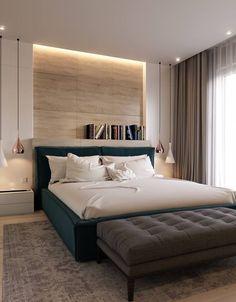 40 stunning examples modern farmhouse master bedroom decor 13 - Home Design World Contemporary Bedroom Furniture, Modern Master Bedroom, Farmhouse Master Bedroom, Gold Bedroom, Stylish Bedroom, Master Suite, Bedroom Wall, Single Bedroom, Bedroom Lamps
