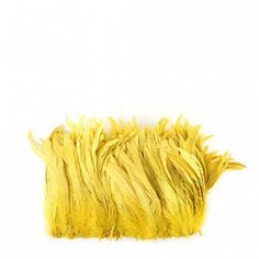 """Rooster Coque Tails-Bleach-Dyed Bright Yellow  Product SKU: CCNSD8_10 Size: 7-10"""" (strung feathers) Shop Feathers: www.featherplace.com"""