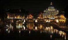 Roma, San Pietro - ponte Vittorio Emanuele II - Cupolone
