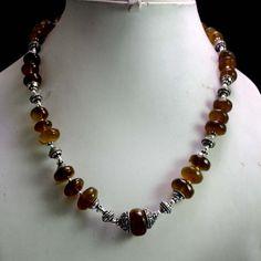 (SKU NO:378ct) Natural Semi Precious Agate Designer Faceted Beads Necklace.
