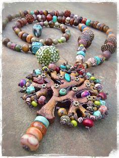 Gemacht, ähm BOUNTIFUL TREE Halskette Baum der Leben-Halskette Handwerker Halskette Edelstein Halskette Halskette erdige Erde GPyoga Schmuck ...