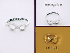Original NOW & FOREVER Infinity Ring by por donnaOdesigns en Etsy