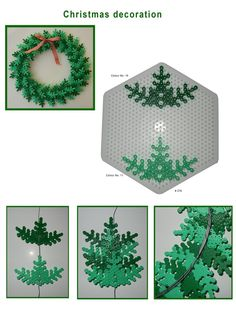 Christmas Decorations - Hama perler bead