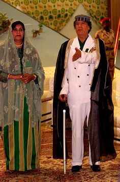 Imágenes de Safia Farkech, la viuda de Muammar Kadhafi.- El Muni.