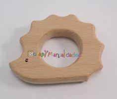 Figura de madera natural sin lacar - Erizo 60x47 mm
